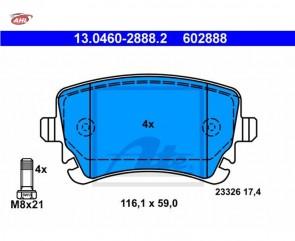 ATE 13.0460-2888.2 Plaquettes de frein AUDI A4 A6