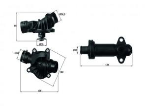 BEHR TI 234 88 + TE 1 70 Thermostat Joint + Boîtier + AGR BMW
