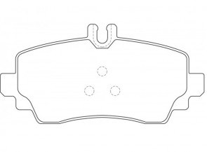 DELPHI LP1401 Kit de plaquettes de frein Mercedes-Benz A-Klasse