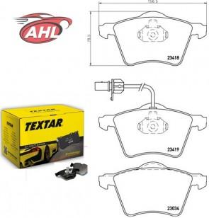 TEXTAR 2341801 Kit de plaquettes de frein FORD GALAXY SEAT ALHAMBRA VW SHARAN