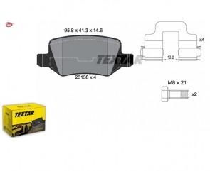 TEXTAR 2313805 Kit de plaquettes de frein MB CLASSE A / B