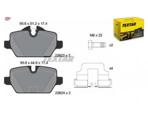 TEXTAR 2362303 Kit de plaquettes de frein BMW