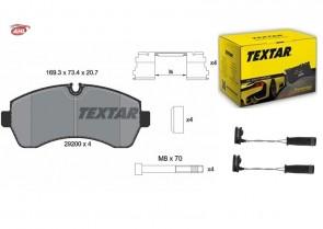 TEXTAR 2920002+98033700 disque de frein + plaquettes de frein VW