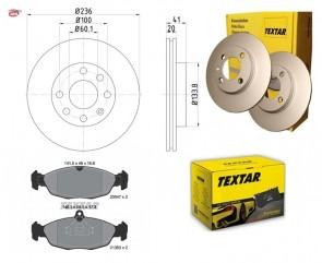 TEXTAR 92029603 + 2054701 disque de frein + plaquettes de frein OPEL DAEWOO