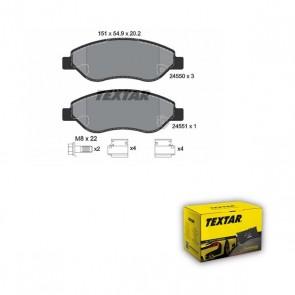 TEXTAR 2455001 Kit de plaquettes de frein OPEL
