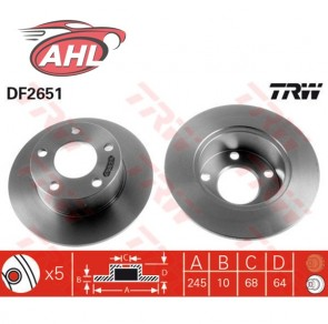 TRW DF2651 x2 Jeu de 2 disques de frein arrière  Audi 100 A6 Avant Skoda VW Passa