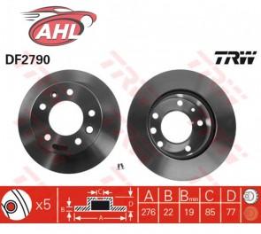 TRW DF2790 x2 Jeu de 2 disques de frein avant MERCEDES BENZ Sprinter