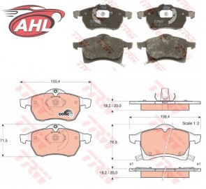 TRW GDB1350 Kit de plaquettes de frein OPEL ZAFIRA ASTRA