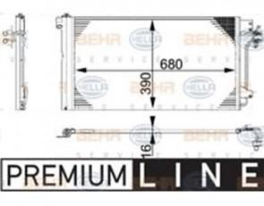 HELLA 8FC 351 317-654 Condenseur, climatisation pour VW