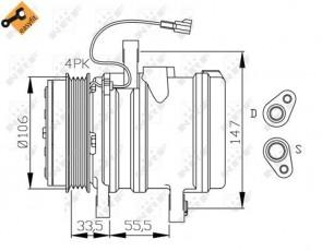 NRF 32436 Compresseur de climatisation CHEVROLET