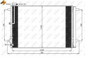 NRF 350059 Condenseur de climatisation AUDI