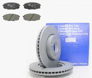 ATE 24.0126-0150.1 + 13.0460-5742.2 Jeu de 4 plaquettes de frein + Jeu de 2 disques de frein