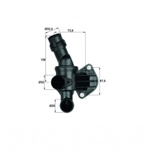 BEHR TI 6 87 Thermostat d'eau (carlosta) pour AUDI SEAT SKODA VW