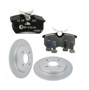 ATE 13.0460-2835.2 + 24.0110-0115.1 Jeu de 4 plaquettes + disque de frein pour FORD