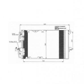 NRF B.V. 35416 pour Condenseur, climatisation - radiateur de climatisation pour OPEL