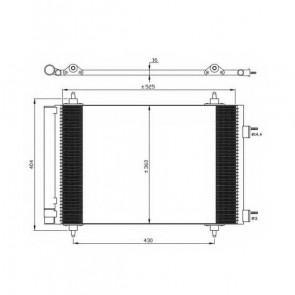 NRF B.V. 35611 radiateur de climatisation pour CITROËN PEUGEOT