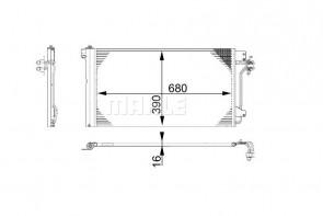 MAHLE AC 672 000S radiateur de climatisation pour VAG