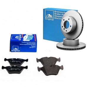 ATE 24.0122-0159.1+13.0460-7089.2 Jeu de 4 plaquettes de frein + Disque de frein pour BMW