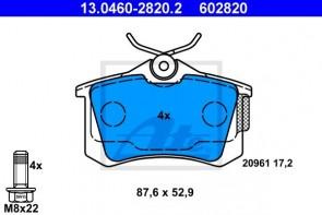 ATE 24.0109-0137.1 + 13.0460-2820.2 Jeu de 2 disques de frein + Jeu de 4 plaquettes de frein CITROEN PEUGEOT