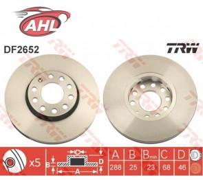 TRW DF2652 x2 JEU DE 2 DISQUES DE FREIN AUDI A4 8E B6 B7 A6 C5 VW PASSAT