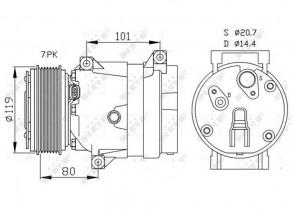 NRF 32481 Compresseur de climatisation NISSAN