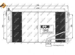 NRF 35535 Condenseur de climatisation MERCEDES
