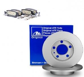 ATE 24.0110-0250.1 + 13.0460-2868.2 Jeu de 2 disques de frein + Jeu de 4 plaquettes de frein