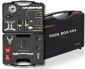 CONTITECH 6758825000 TOOL BOX V04 Outils et piges de blocage pour vilebrequins et arbres à cames pour Ford Opel