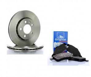 ATE 24.0122-0151.1 + 13.0460-7117.2 Jeu de 2 disques de frein + Jeu de 4 plaquettes de frein pour FIAT SEAT VW