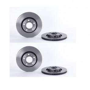 BREMBO 09.9908.21 Jeu de 2 disques de frein pour  AUDI VW