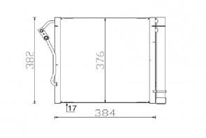 MAHLE AC 340 000S radiateur de climatisation pour SMART