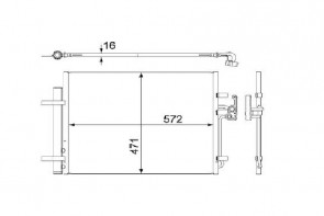 MAHLE AC 441 000S radiateur de climatisation pour FORD VOLVO LAND ROVER